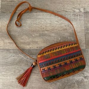 Vintage Sharif Earth Tones Boho Crossbody Purse